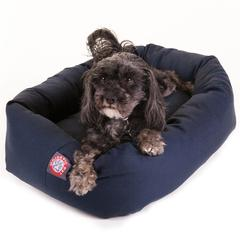 "Majestic 24"" Blue Bagel Bed By Majestic Pet Products"