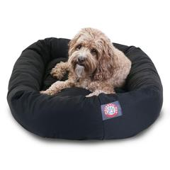"Majestic 32"" Black Bagel Bed By Majestic Pet Products"