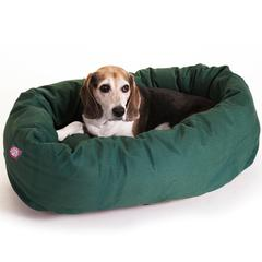 "Majestic 32"" Green Bagel Bed By Majestic Pet Products"