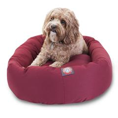 "32"" Burgundy Bagel Bed By Pet Products"