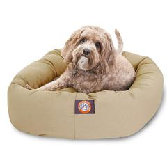 "Majestic 32"" Khaki Bagel Bed By Majestic Pet Products"