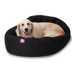 "40"" Black Bagel Bed By Pet Products"
