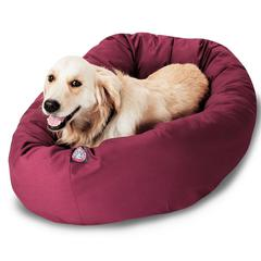 "Majestic 40"" Burgundy Bagel Bed By Majestic Pet Products"