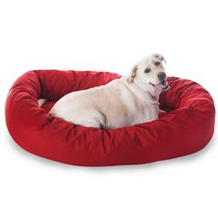 "Majestic 52"" Red Bagel Bed By Majestic Pet Products"