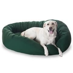 """52"""" Green Bagel Bed By Pet Products"""