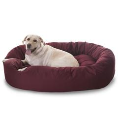 "Majestic 52"" Burgundy Bagel Bed By Majestic Pet Products"