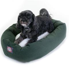 "24"" Green & Sherpa Bagel Bed By Pet Products"