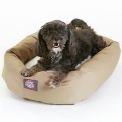 """Majestic 24"""" Khaki & Sherpa Bagel Bed By Majestic Pet Products"""