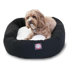 "32"" Black& Sherpa Bagel Bed By Pet Products"