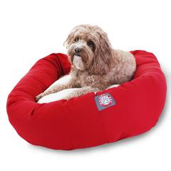 """32"""" Red & Sherpa Bagel Bed By Pet Products"""