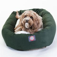 "32"" Green & Sherpa Bagel Bed By Pet Products"