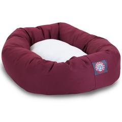 "40"" Burgundy & Sherpa Bagel Bed By Pet Products"