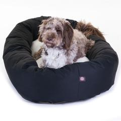 """Majestic 52"""" Black & Sherpa Bagel Bed By Majestic Pet Products"""
