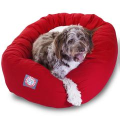 "52"" Red & Sherpa Bagel Bed By Pet Products"