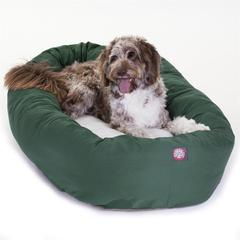 """Majestic 52"""" Green & Sherpa Bagel Bed By Majestic Pet Products"""