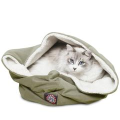 """Majestic 17"""" Sage Suede Burrow Bed"""
