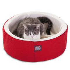 "Majestic 16"" Red Cat Cuddler Pet Bed By Majestic Pet Products"