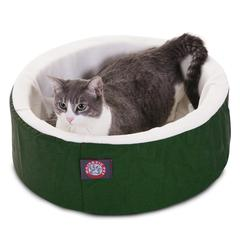 "Majestic 16"" Green Cat Cuddler Pet Bed By Majestic Pet Products"
