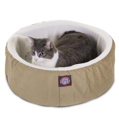 "Majestic 16"" Khaki Cat Cuddler Pet Bed By Majestic Pet Products"