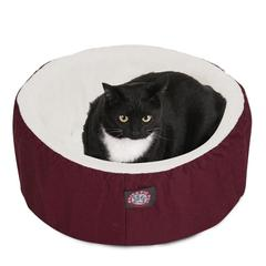 "20"" Burgundy Cat Cuddler Pet Bed By Pet Products"