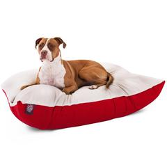36x48 Red Rectangle Pet Bed By Pet Products- Large