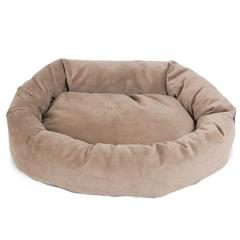 "Majestic 40"" Stone Suede Bagel Dog Bed By Majestic Pet Products"