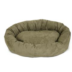 """40"""" Sage Suede Bagel Dog Bed By Pet Products"""