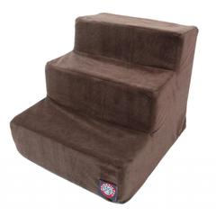 Majestic 3 Step Chocolate Suede Pet Stairs By Majestic Pet Products