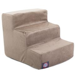 3 Step Stone Suede Pet Stairs By Pet Products