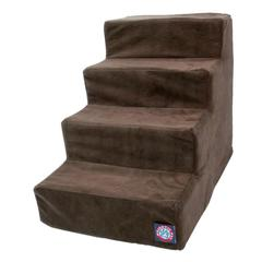 4 Step Chocolate Suede Pet Stairs By Pet Products