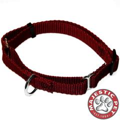 Majestic 14in - 20in Martingale Burgundy, 40 - 120 lbs Dog By Majestic Pet Products