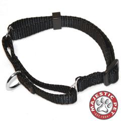 Majestic 10in - 16in Martingale Black, 10 - 45 lbs Dog By Majestic Pet Products