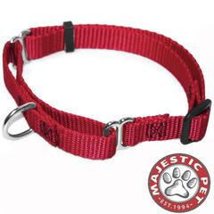 Majestic 10in - 16in Martingale Red, 10 - 45 lbs Dog By Majestic Pet Products