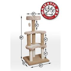 "50"" Carpeted Sherpa Moon Cat Tree By Pet Products"
