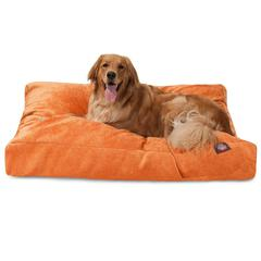 Orange Villa Collection Extra Large Rectangle Pet Bed
