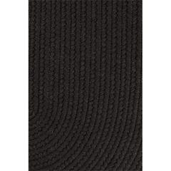 "Rhody Rug Solid Black Wool 18"" x 36"" Slice"