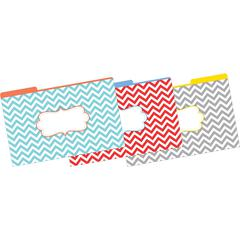 Legal-Size File Folders - Chevron-Beautiful, Multi-Design Set of 9