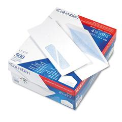 Columbian Poly-Klear Insurance Form Envelopes, #10, White, 500/Box