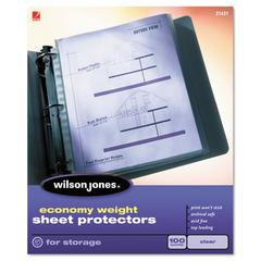 Wilson Jones Economy Weight Top-Loading Sheet Protectors, Letter, 50/Box