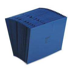 Wilson Jones ColorLife Expanding A-Z Indexed Files, 26 Pockets, Letter, Dark Blue