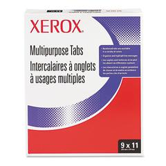 Xerox Single Reverse Collated Index Dividers, 5-Tab, Punched, 9 x 11, 250 Sets/Box
