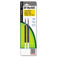 Zebra JF Refill for Jimnie Gel RT/Sarasa/Z-Grip Gel Roller Ball, Med, BE, 2/Pack