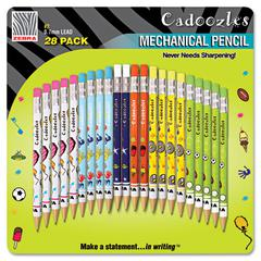 Cadoozles Mechanical Pencil, #2, Assorted Barrels, 0.9 mm, 28/Pack