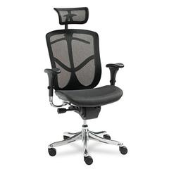 Alera EQ Series Ergonomic Multifunction High-Back Mesh Chair, Aluminum Base