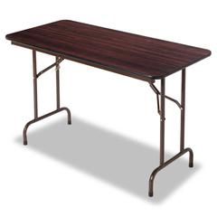Wood Folding Table, Rectangular, 48w x 24d x 29h, Mahogany