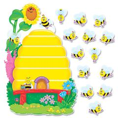 "Busy Bees Job Chart Plus Bulletin Board Set 18 1/4"" x 17 1/2"""