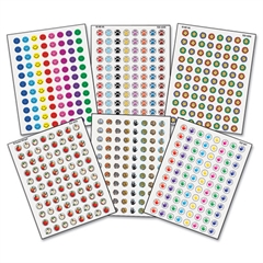 Teacher Created Resources Mini Stickers Variety Pack, Six Assorted Designs/Colors, 3,168/Pack