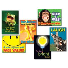 """Attitude & Smiles"" ARGUS Poster Combo Pack, 6 Posters/Pack"