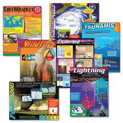 TREND Learning Chart Combo Pack, Weather Extremes, 17w x 22h, 7/Pack