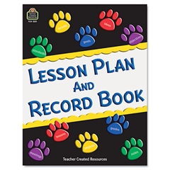 Paw Prints Lesson Plan & Record Book With Monthly Planner, 160 Pages, 8-1/2 x 11